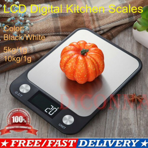 5KG/1G 10kg /1g Digital Kitchen Scale Ounce Slim Electronic Stainless Steel Accurate LCD Digital Scale Food Kitchen Scales