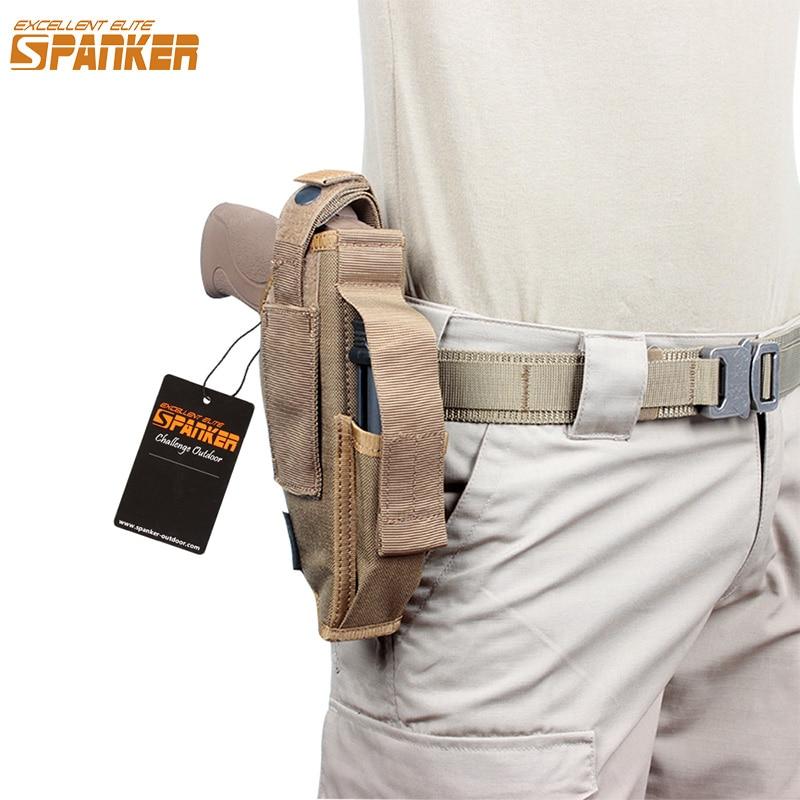 EXCELLENTE ELITE BRIGANTINE Universal MOLLE boucle Ensachage Pistol Belt Holster Clip Taille Pack Militaire En Plein Air Pistolet Poche équiper