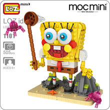 LOZ Mini Blocks Moc Figurine Toys For Children Mini Modular Action Figure Anime Cute Dolls With Big Eyes DIY Assembly Model 1101