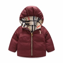 winter boy girls jacket new children' s clothing small baby down jacket boys and girls Hooded bread suits outerwear down coat