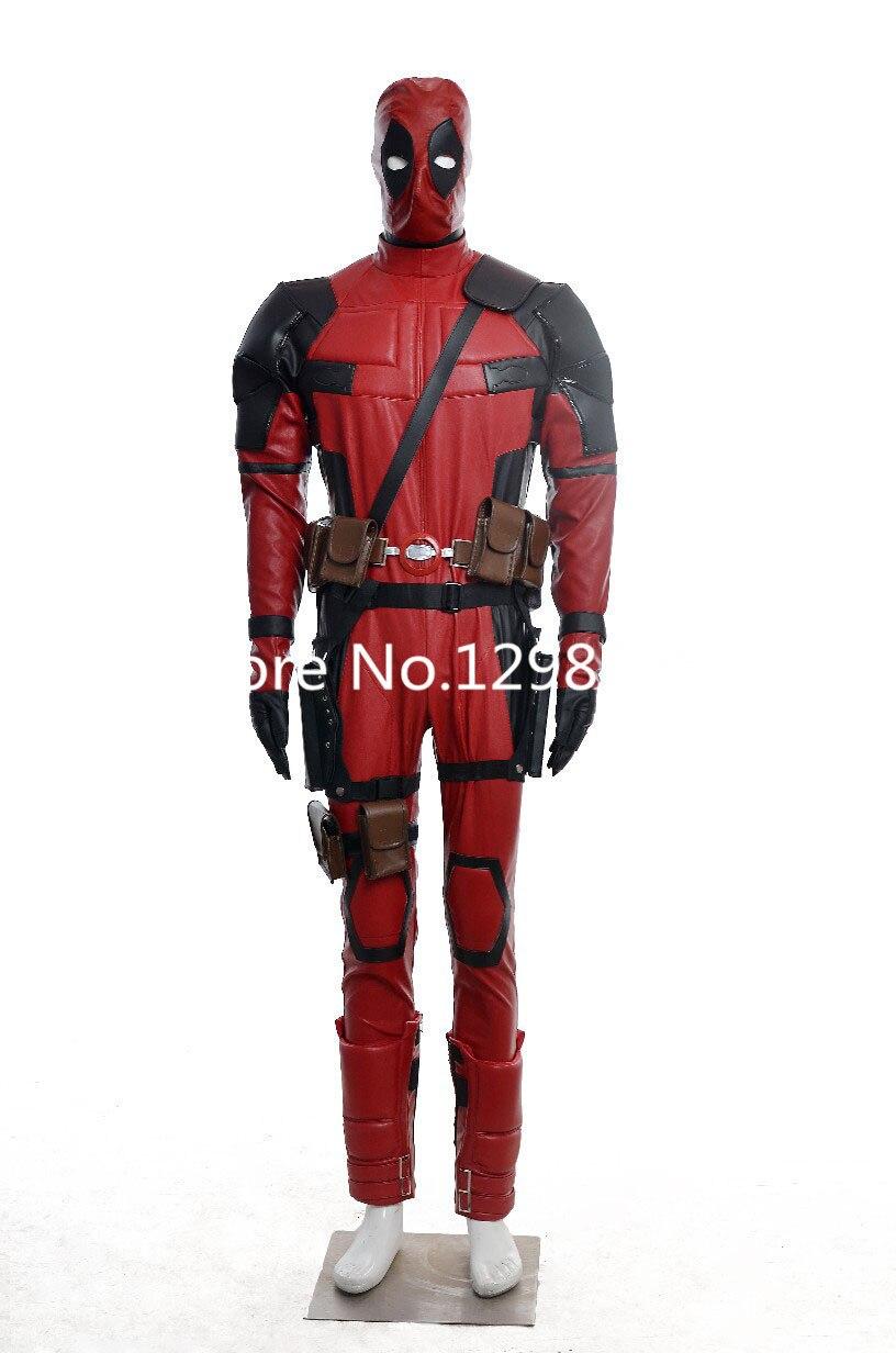 2015 Горячая фильм X Men Косплей Дэдпул Deadpool карнавальный костюм супергероя для Хэллоуина партии Рождество день