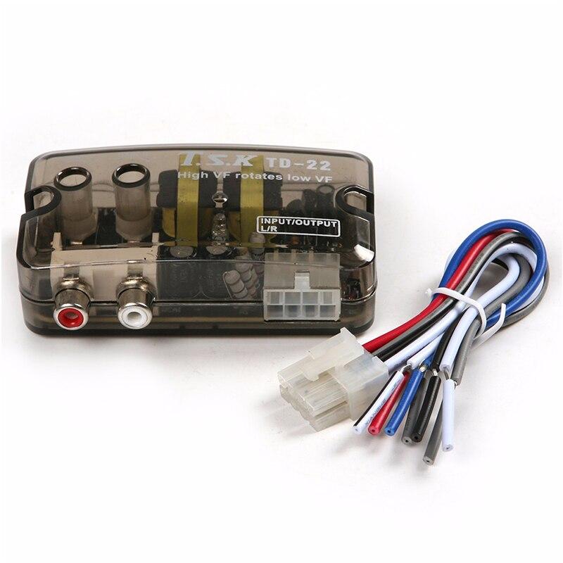 Hot Sale] 1pcs New 12V RCA Car Stero Radio Converter Speaker High To