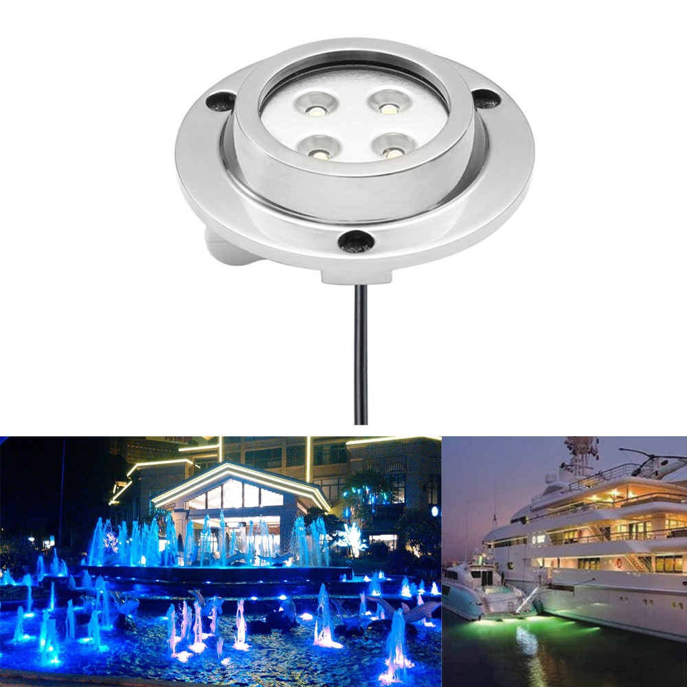 2pieces Dc12v 10w Ip68 Swimming Pool Led Underwater Light Seamship Led Lamp Warm White ,blue,rgb Perfect In Workmanship 6000k ,cold White 3000k