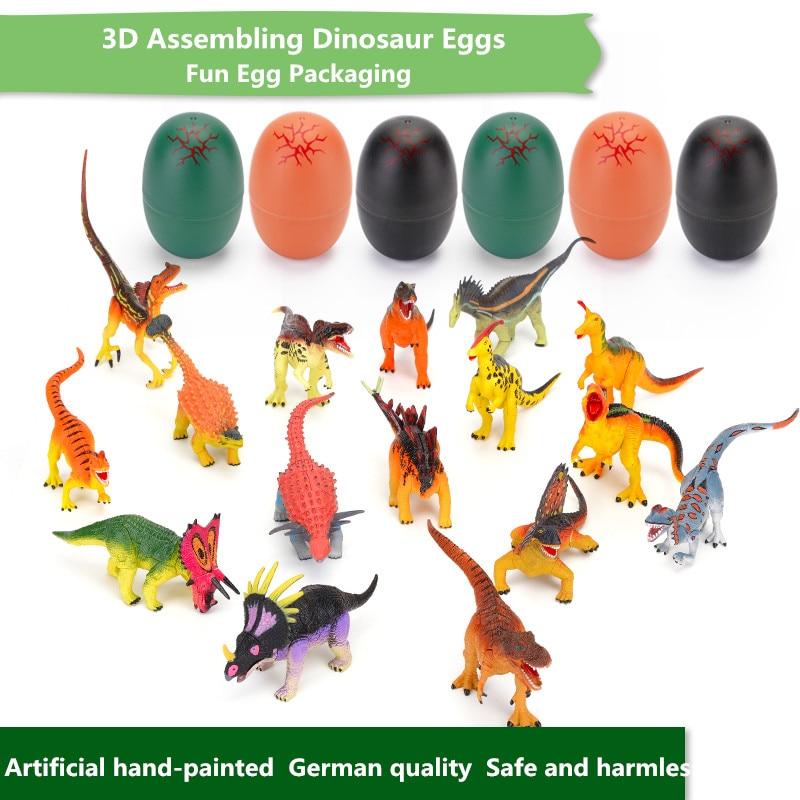 REikirc rəngli dinozavr yumurtaları böyüyən böyüyən dinozavr - Oyuncaq fiqurlar