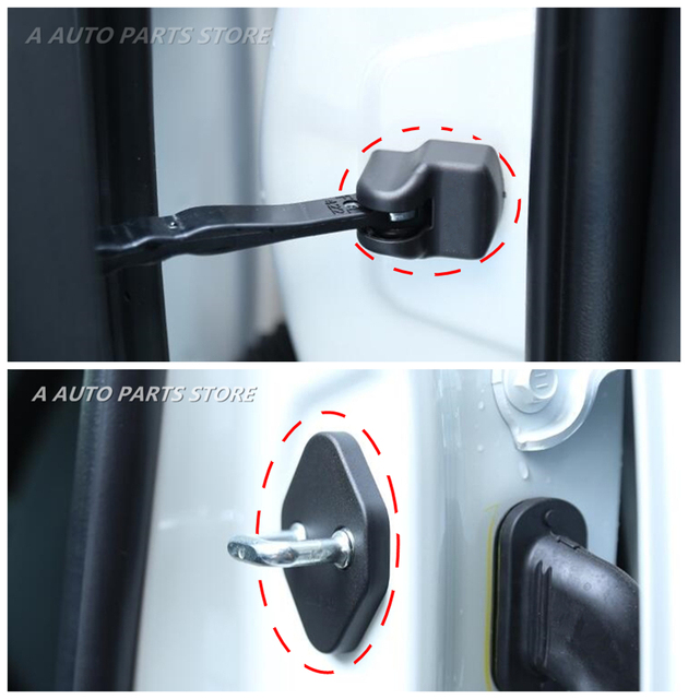 Car Door Lock Decoration Cover Door Check Arm Protection Cover For Nissan Qashqai J11 2014 2015 2016 2017 2018