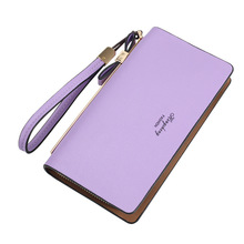 2017 wallet pu leather card organizer wristlet money bag phone pocket big capacity clutch long women wallets bow tie decoration