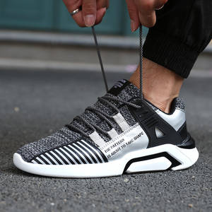new products a18c3 d7733 Male Sport Shoes For Men Sneakers Black White Plus Size Running Shoes