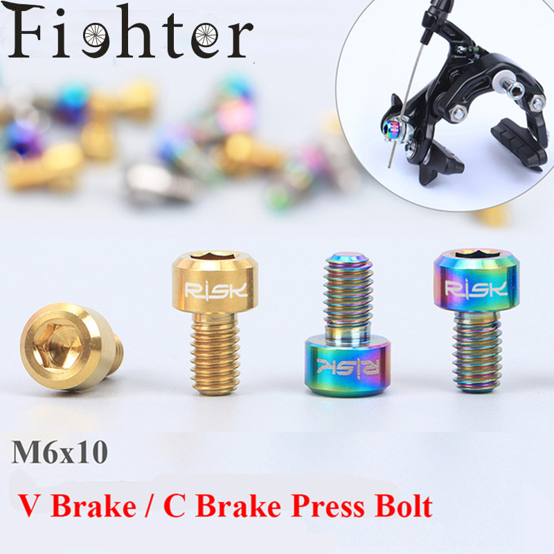 Washer Front /& Rear 4 set Titanium Road Brake V-Brake Pad Bolt Ti Mtn Nut