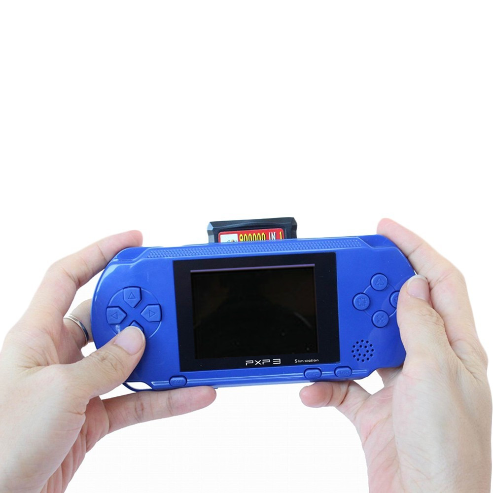 3 Inch 16 Bit PXP3 Slim Station Video Games Player Handheld Game +2pcs Game Card Console built-in 999999 Classic Games New 16 4
