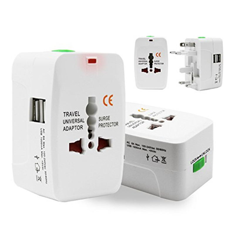 EU UK US AU Electric Plug power Socket Adapter International travel adapter Universal Travel Socket USB Power Charger Converter