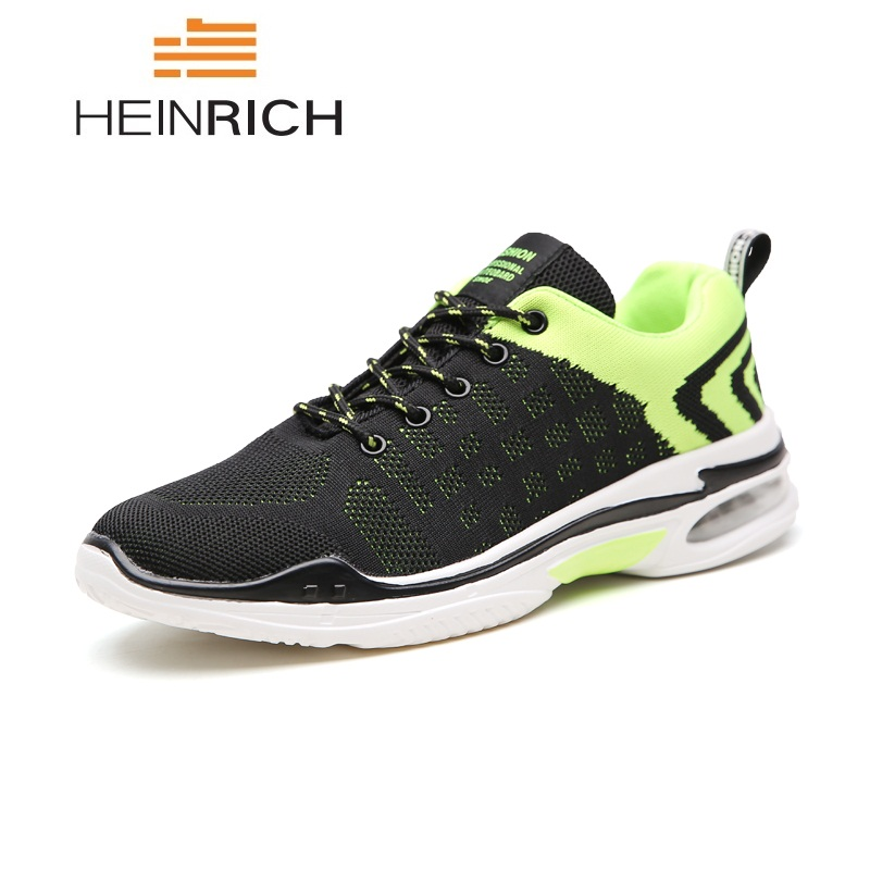 HEINRICH Fashion Sneakers Man Shoes Breathable Flyknit Men Casual Shoes Tenis Masculino Lightweight Mens Trainers Shoes Footwear