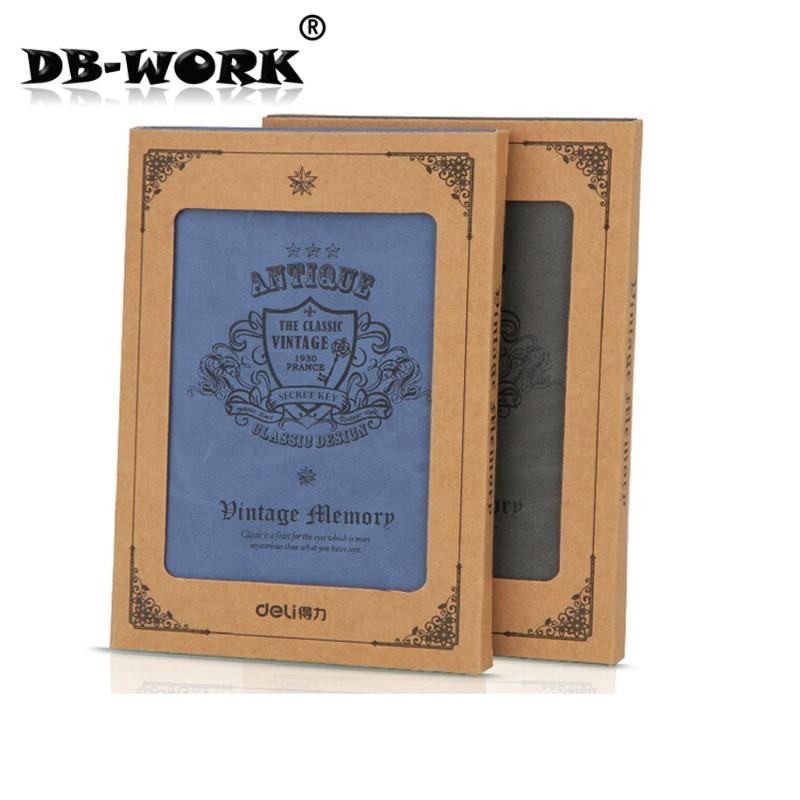 Deli способный 3179 Sir Brown лицо кожи эта серия принимает высококачественный материал PU кожаный блокнот