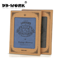 Deli capable 3179 Sir Brown leather face this series adopts high-grade PU material leather notebook