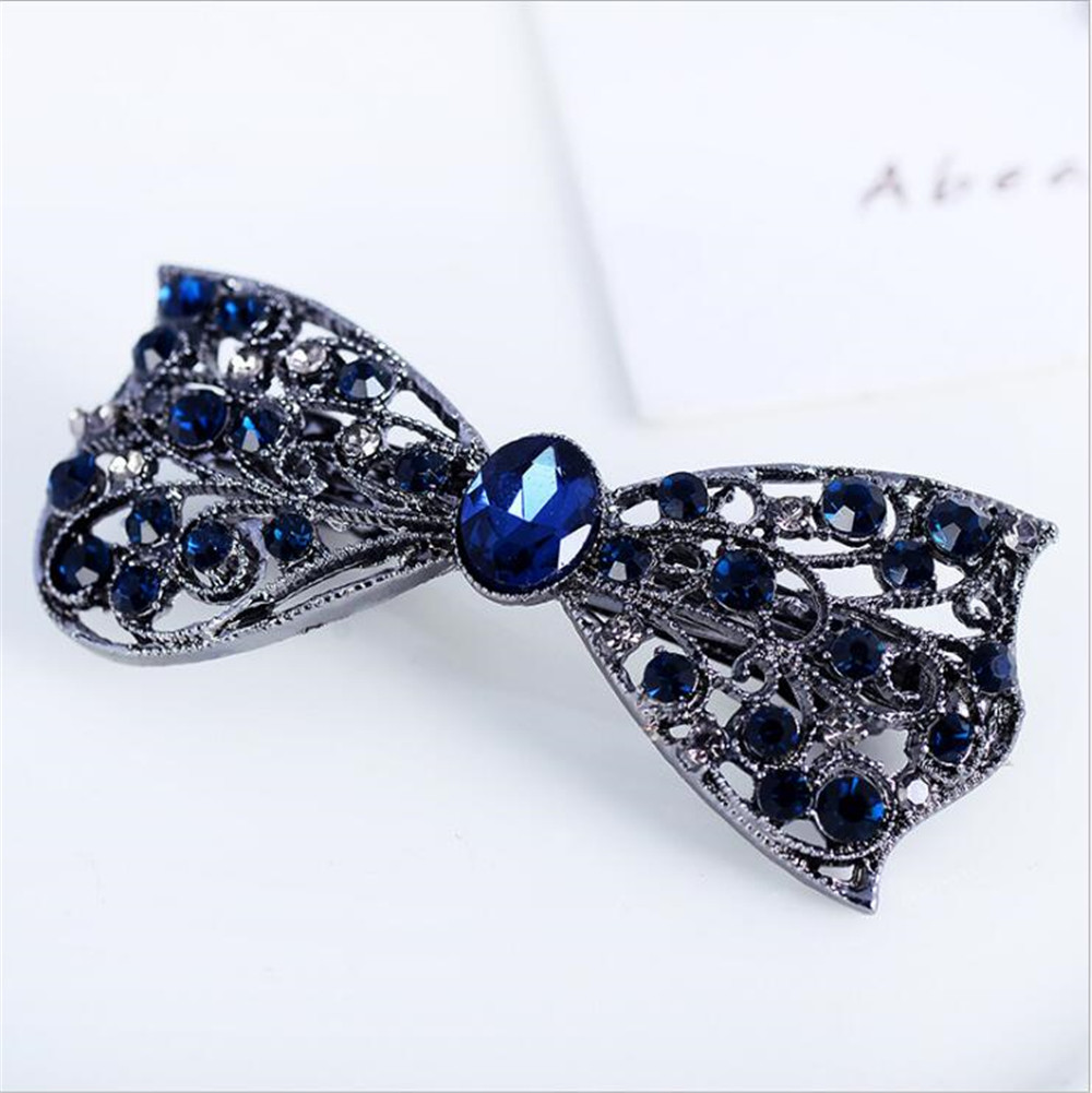 2018 Tie Hair Accessories Trombone for Party Rhinestone Hair Clips  Ornaments Jewelry for Women New Hair Tiaras Jewelry Girls -in Hair Jewelry  from Jewelry ... ca93c220c