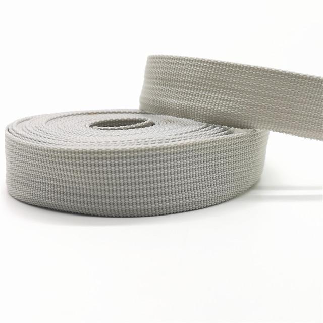 GSZPXF 5 Verges de Sac de Ceinture Ruban Toile en Nylon Sangles Sangles Sac /à Dos Strapping Couture Accessoires de Ceinture Color : Silver Grey