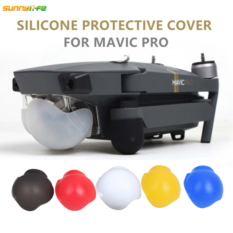Sunnylife Mavic PRO Camera Lens Cap Soft Silicone Case Protective Cover Gimbal Guard Prop Protector for DJI Mavic PRO Accessores