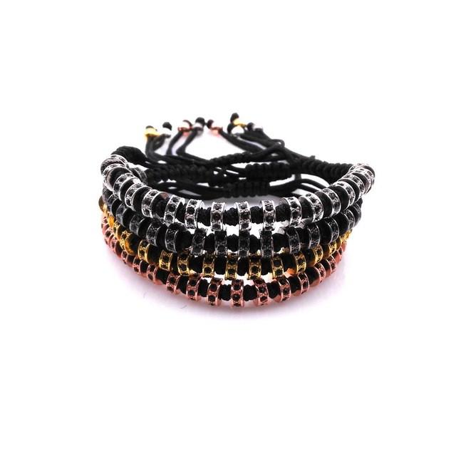 5 pcs famosos anil arjandas pulseiras micro pave cz preto macrame pulseira para homens jóias pulseira de contas rolhas briading