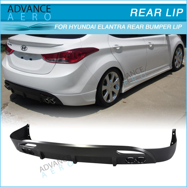 For 11-13 Hyundai Elantra Sedan OE Style Rear Bumper Lip Diffuser Polypropylene