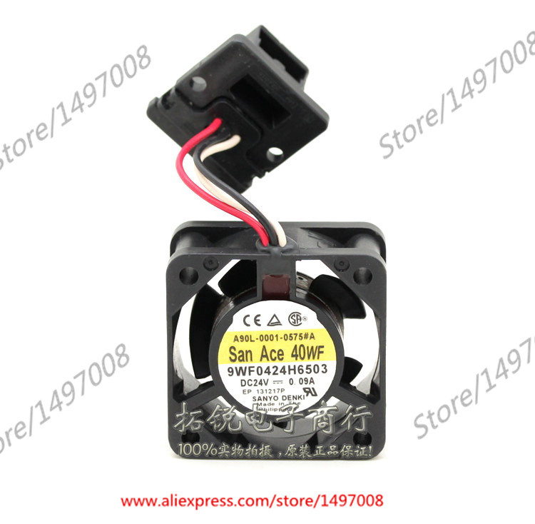 Free Shipping For Sanyo  9WF0424H6503  DC 24V 0.09A 3-wire 6-pin connector 30mm, 40x40x20mm Server Square fan free shipping for delta afc0612db 9j10r dc 12v 0 45a 60x60x15mm 60mm 3 wire 3 pin connector server square fan