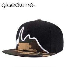 a728e28566 Glaedwine 2017 marca hombres negro Snapback gorra plana gorras de béisbol  ajustables papá sombrero gorra Hip Hop bones sombrero .