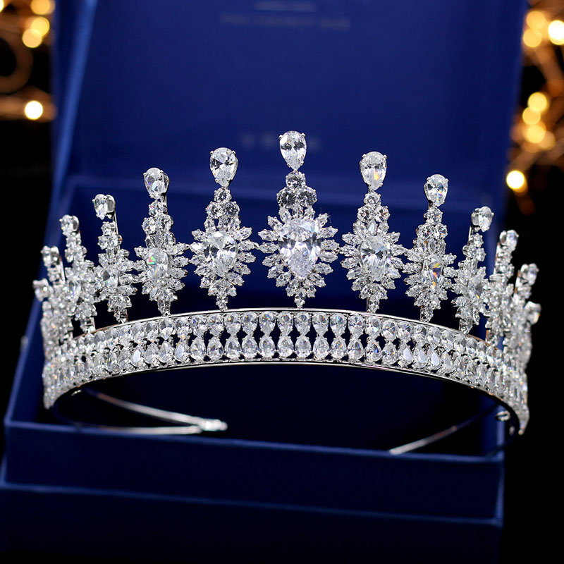 SLBRIDAL Luxury Classic Top AAA Cubic Zirconia Wedding Tiara Headband CZ Bridal Queen Princess Pageant Royal Crown Women JewelrySLBRIDAL Luxury Classic Top AAA Cubic Zirconia Wedding Tiara Headband CZ Bridal Queen Princess Pageant Royal Crown Women Jewelry