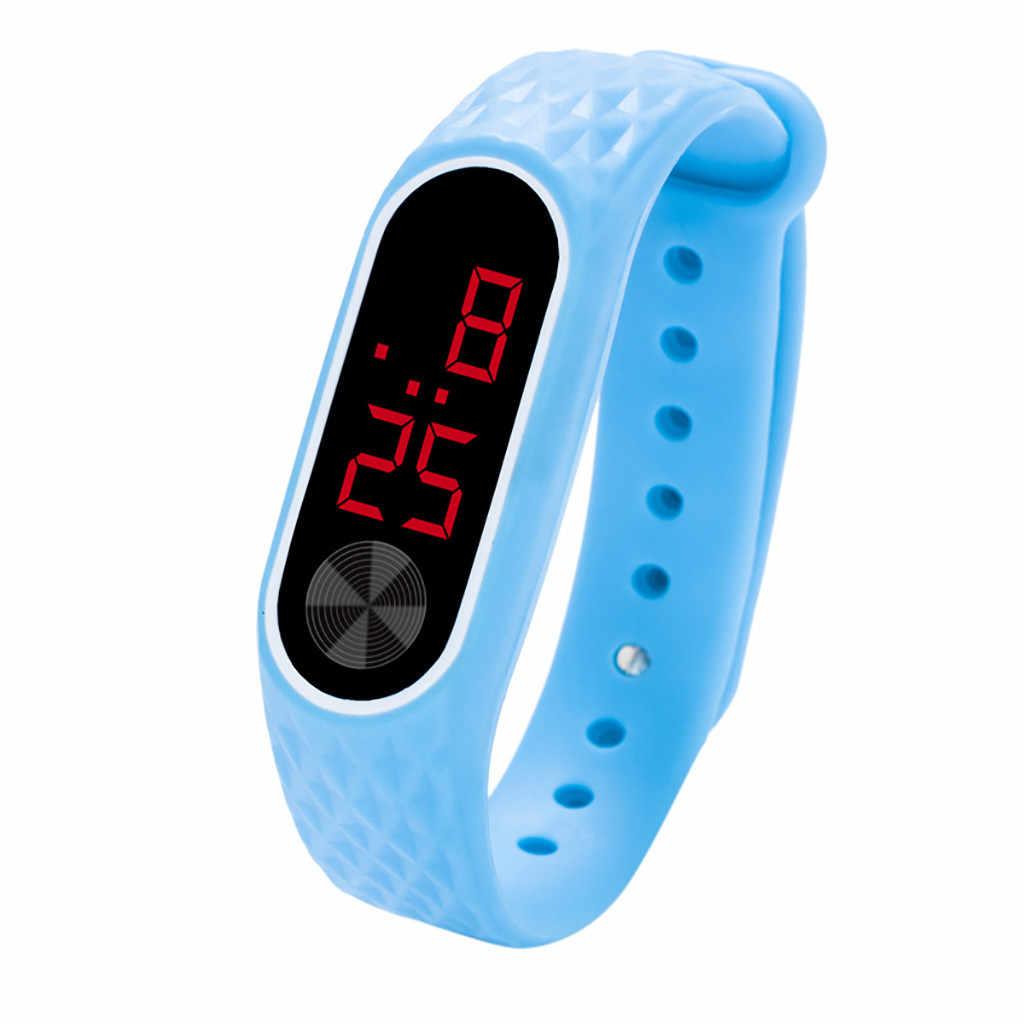 2019 LED adam kadın spor saat bilezik izle çocuk öğrenciler silika jel spor saat Reloj deportivo ücretsiz kargo Wd3 deniz