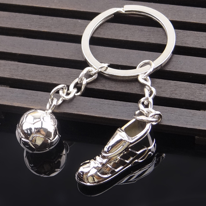 2018 Football Fans Theme Keychain Decoration Anniversary Gift Aluminum Alloy Ornament Key Ring Soccer Mobile Strap Birthday Gift