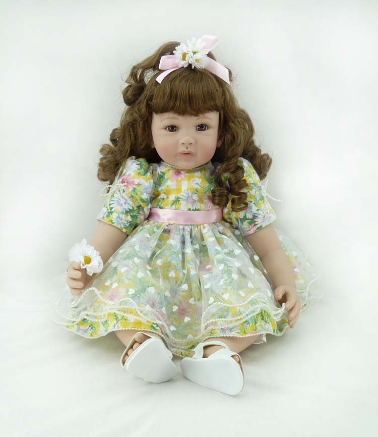 Fashion vinyl silicone reborn baby dolls accompany sleeping lifelike princess toddler doll kid high-end christmas new year gifts new 22 55cm silicone reborn baby dolls accompany sleeping princess girl doll toy handmade lifelike christmas gift brinquedos