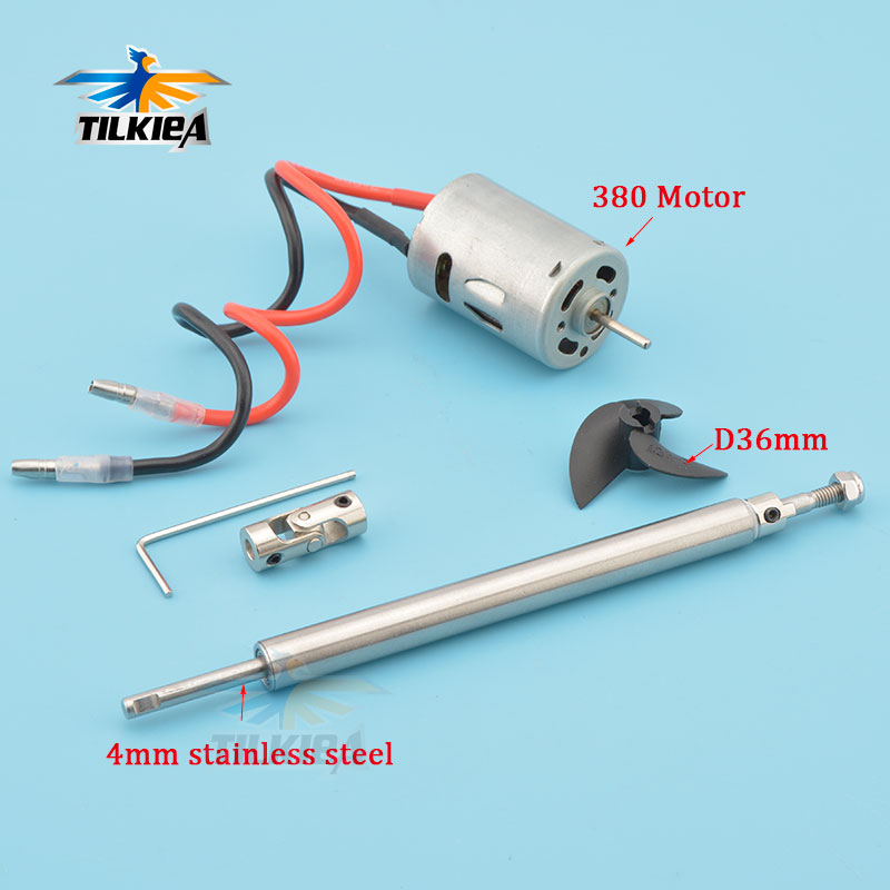 Rc Boat 380 Motor With Shaft Propeller Kit Shaft Assembly