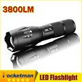 CREE XM-L T6 3800Lumens LED Flashligh Torch Light Tactical Flashlight  Zoomable LED Torch For 3xAAA or 18650 Camping Hiking
