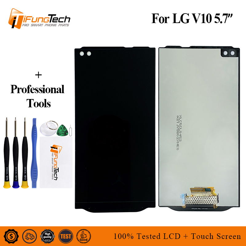for <font><b>LG</b></font> <font><b>V10</b></font> LCD <font><b>Display</b></font> Touch Screen Digitizer Assembly Replacement for <font><b>LG</b></font> <font><b>V10</b></font> H960 H961 H968 H900 LCD <font><b>Display</b></font> With Frame image