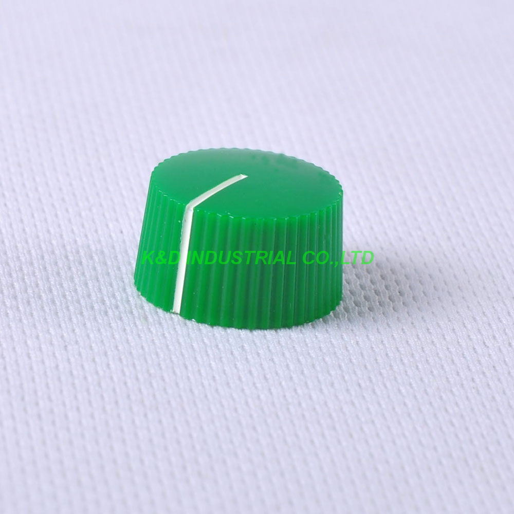 10pcs Colorful Rotary Vintage Control Plastic Green Knob 21x12mm for 6.35mm Shaft Guitar