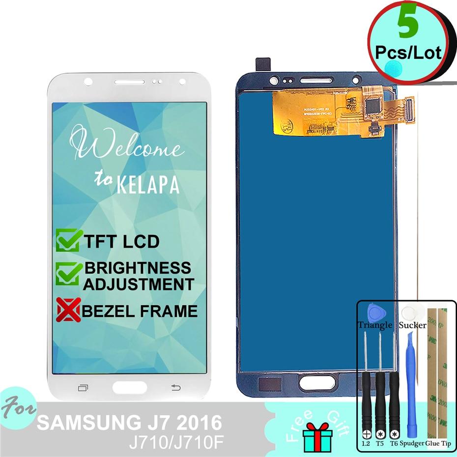 5 Adjust Backlight TFT LCD For Samsung Galaxy J7 2016 J710 J710FN J710F J710M J710Y J710G J710H Touch Screen Digitizer Assembly5 Adjust Backlight TFT LCD For Samsung Galaxy J7 2016 J710 J710FN J710F J710M J710Y J710G J710H Touch Screen Digitizer Assembly