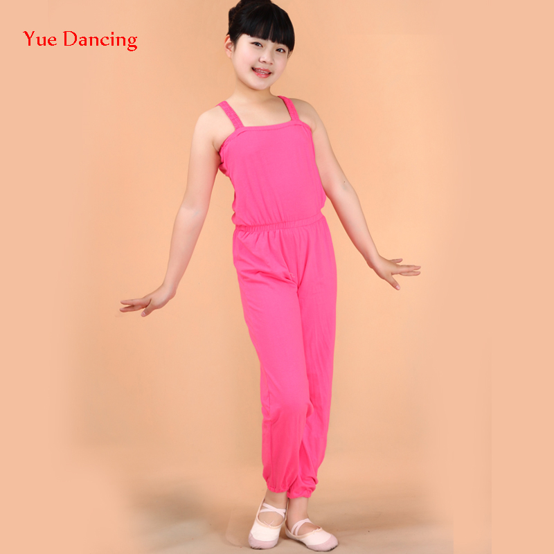 2016 New Children Summer DanceWear Kids Lycra Once Piece Latin Pants Girl Gymnastic Dancing Clothes Child Training Wear For Sale