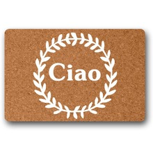 Door Mat Entrance Ciao Italy Non-slip funny front indoor mats for entrance door outdoor decor Doormats