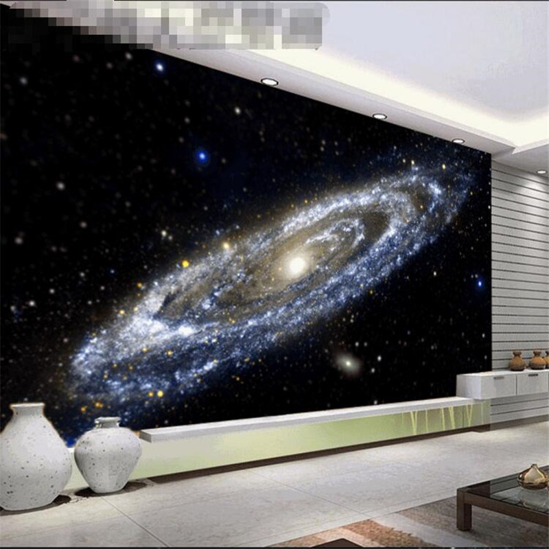Us 8 85 41 Off Beibehang Photo Wall Paper Disk Of The Milky Way Galaxy Bright Black Hole Ceiling Large Mural 3d Wall Murals Wallpaper Painting In