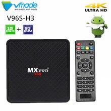Vmade V96S H3 HD تي في بوكس أندرويد الروبوت 7,0 كاجا دي التلفزيون inteligente Allwinner H3 رباعية النواة WiFi IP TV تويتر مجموعة أعلى مربع 1GB + 8GB
