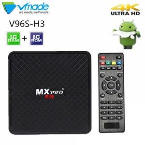 Image 1 - Vmade V96S H3 HD Android tv BOX Android 7,0 caja de tv inteligente Allwinner H3 четырехъядерный WiFi IP tv twitter телеприставка 1 Гб + 8 Гб