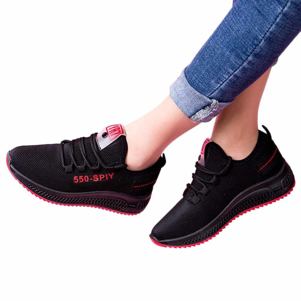 Roxo preto rendas até não deslizamento moda feminina esporte tênis tênis tênis de caminhada leve plana com tornozelo baixo topo