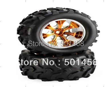 09309NPG X2pair/LOT Wheel Complete SST 1/10 electric Truck car parts 1989 Model Car spare wheels hot sale Free shipping Dropship