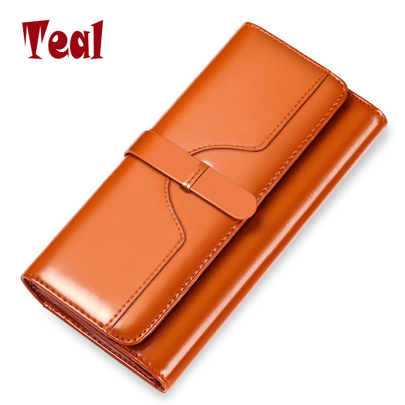 women's wallet portfolios of famous brands 2016 card holder for Women's long wallets purse made of genuine leather clutch women