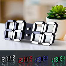 CV USB Recharge Modern Digital LED Table Desk Night Wall Clock Alarm Watch 24 /12 Hour Display 3 Levels Of Brightness TB Sale