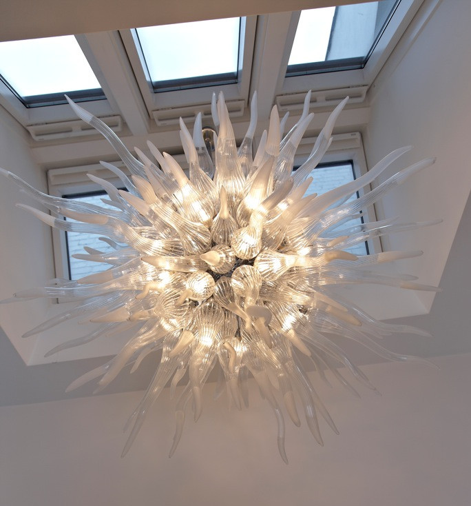 Lustre en verre soufflé à la main Antique lustre en cristal de verre de Murano avec AC 110 v-240 v LED ampoule qualité supérieure nouveauté