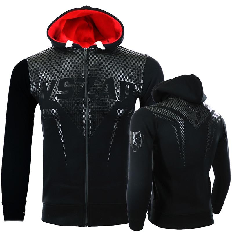 VSZAP MMA Rock Hoodies Winter Jacket Long Sleeve Hooded Sweatshirt Kickboxing Combat Stitching Printed Fish Scales