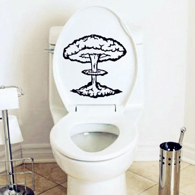 Atomic Explosion Bathroom Vinyl Decal Home Decor Toilet Wall Sticker Design Funny