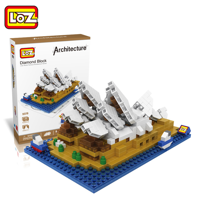 LOZ Architecture Mini Diamond Building Blocks Toys LOZ Sydney Opera House DIY Building Bricks Figure Toys for Children Gift loz architecture famous architecture building block toys diamond blocks diy building mini micro blocks tower house brick street