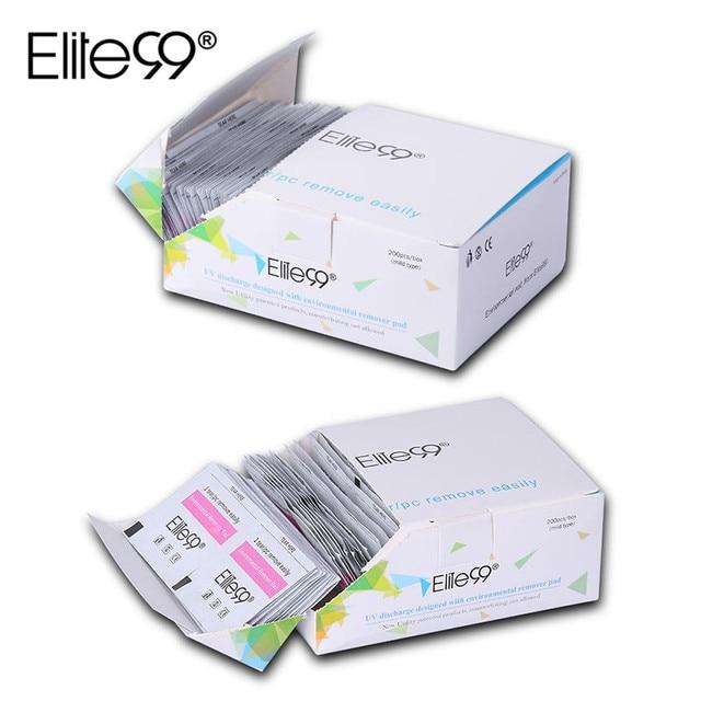 Elite99 200 unids Laca de Uñas de Gel Polacos Foil Remover Wraps con Caja UV Extraíble Ambiental Easy Cleaner Envolturas de Uñas de Gel