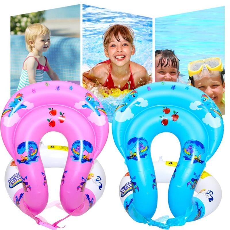 Dual Airbags Child Inflatable Swim Vest Kids' Life Jacket Swimming Pool Learn-to Swim Jacket Buoyancy Aid Vest for Kids image
