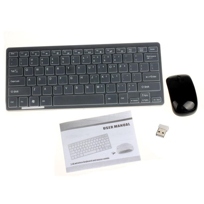 2,4 G traadita arvuti klaviatuur + hiire klaviatuuri membraani kott - Arvuti välisseadmed - Foto 3