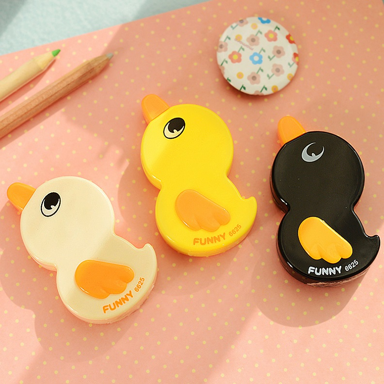 1X Kawaii Cute Duck Correction Tape Erasers School Office Stationery Student Rewarding Gift Papeleria